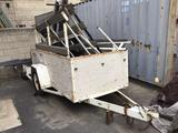 9.5ft. Small Utility Trailer With Mounted Glass Rack