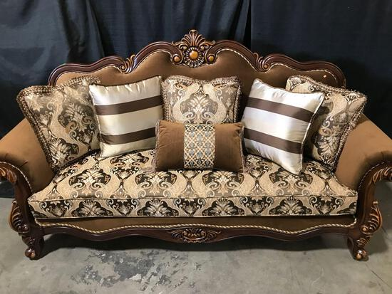 Astoria Grand TressA 94in Rolled Arm Sofa