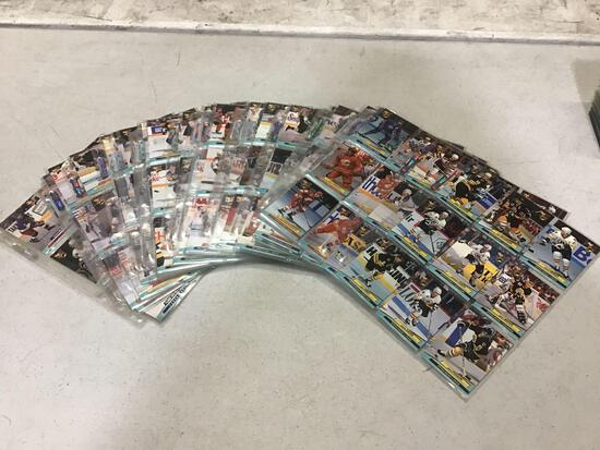 Lot of Complete 92-93 Fleer NHL 247 Card Set