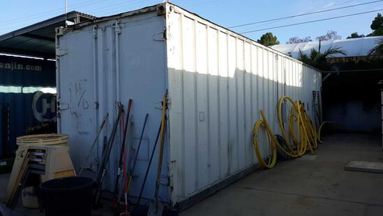 40ft L x 8ft W 9.5ft H Shipping Container with Side Roll Up Door and Lighting