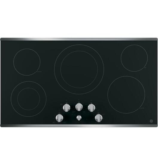 GE Black 36in. Built-In Knob Control Electric Cooktop