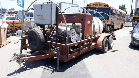 16ft Trailer with Dual HOTSY Industrial Hot Water Pressure Washers Powered by DEUTZ Diesel Engine