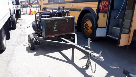 6ft Utility Trailer with Small Kohler Gas Powered Air Compressor***NOT CURRENTLY RUNNING***