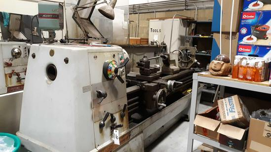 CLAUSING-Colchester 21in Diameter Swing Variable Speed Lathe with AcuRite III Control Panel*WORKING*