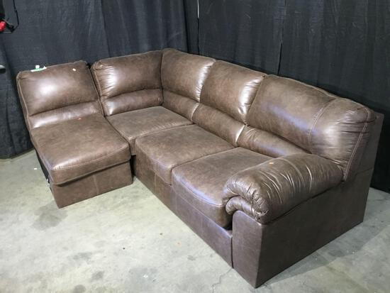 Baronets Modular Sofa and Armless Chair Sectional