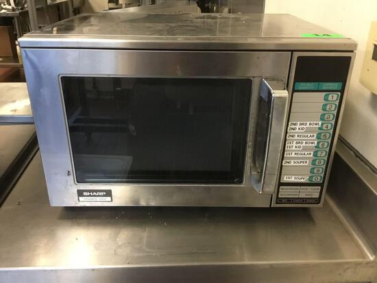 Sharp Heavy-Duty 1200W Commercial Microwave