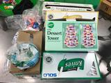 Lot of Assorted Plastic Utensils and Plates