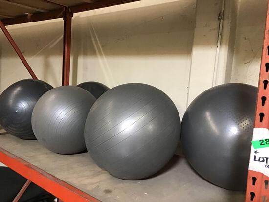 Lot of (6) Inflatable Vinyl Workout Balls