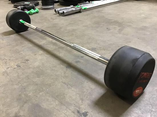 Powerfit 100LB Fixed-Weight Barbell