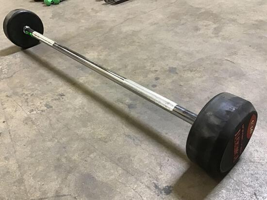 Powerfit 60LB Fixed-Weight Barbell