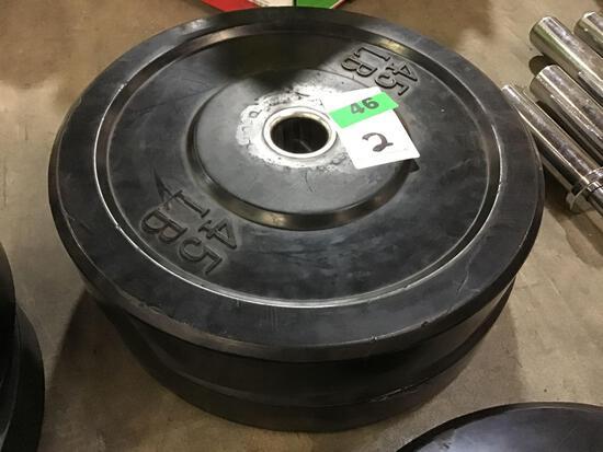 (2) 45LB. Bumper Weights