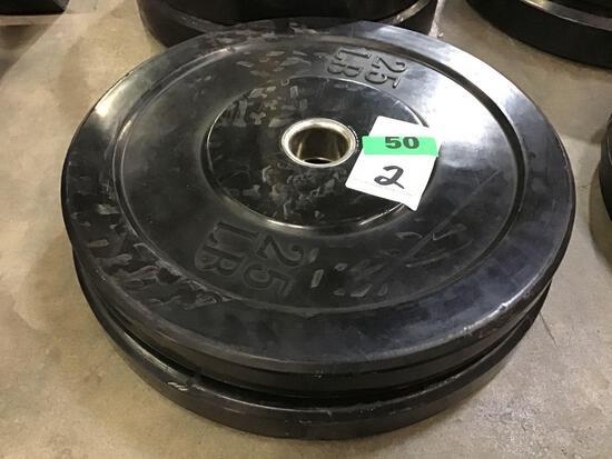 (2) 25LB. Bumper Weights