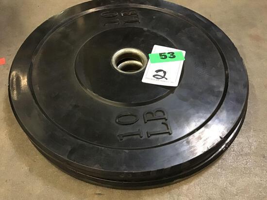 (2) 10LB. Bumper Weights