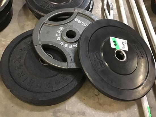 Lot of (3) Assorted Size/Type Weights