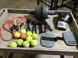 Lot of Assorted Sports/Workout Equipment
