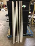 Lot of (10) Assorted Length 3/4in. PVC Pipes