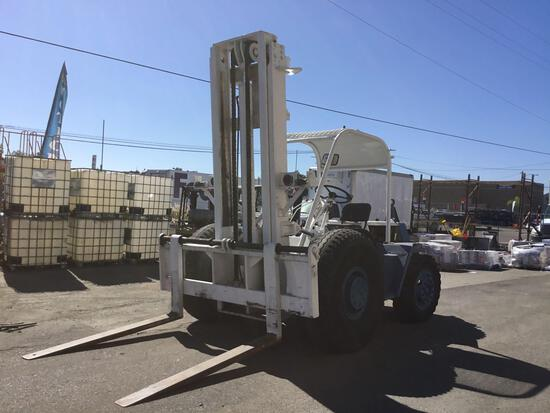 Champ 10,000lbs Capacity Towable Rough Terrain Forklift with 14ft Lift Height and 6ft Forks