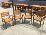 (4) Wooden Outdoor Chairs
