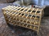 40-Space Wooden Wine Rack