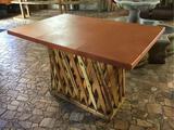 Jalisco Equipale Rectangular Burnt Orange Table