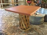Jalisco Equipale Burnt Orange Square Table