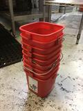Lot of (9) Kitchen Sanitation Buckets