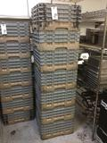(9) Plastic Dishwashing Utility Racks