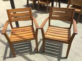 (2) Wooden Outdoor Chairs