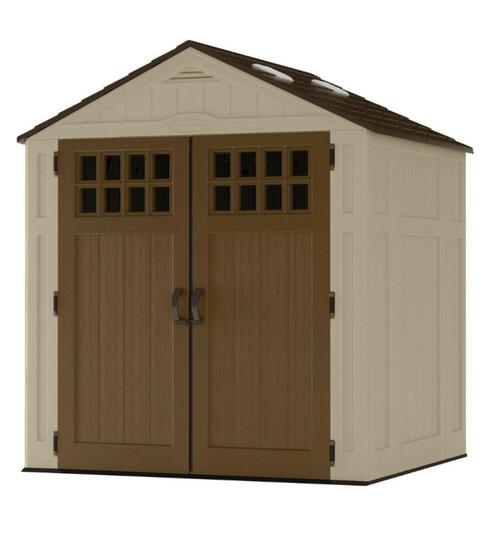 Suncast Everett 6 ft. 8 in. x 5 ft. 6 in. Resin Storage Shed