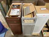 Pallet lot of (4) Assorted Base Cabinets