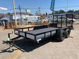 2004 Carson 14ft. Flatbed Trailer with Ramp