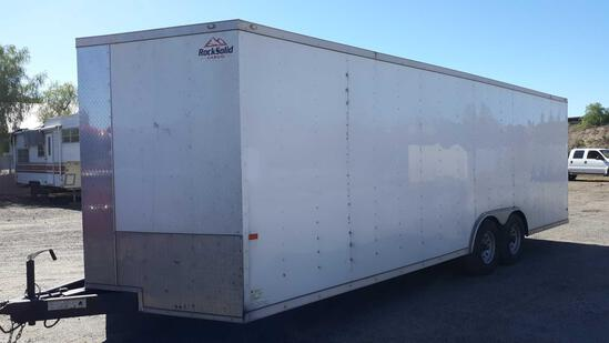 2020 Rock Solid 24ft Enclosed Cargo Trailer with Rear Ramp and Side Access Door