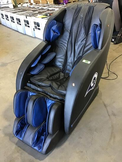 BestMassage Officially Licensed NFL Los Angeles Rams Gravity Massage Chair