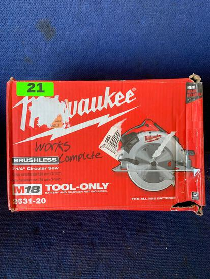 Milwaukee 18V 7-1/4in. Cordless Circular Saw*WORKS*TOOL ONLY*