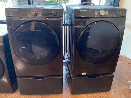 Samsung 7.5 cu. ft. Electric Dryer and 4.5 cu. ft.Washer with Storage Pedestals*PREVIOUSLY INSTALLED