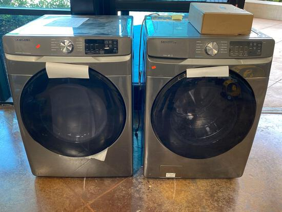 Samsung 7.5 cu. ft. Electric Dryer and 4.5 cu. ft. Washer Pair*WASHER PREVIOUSLY INSTALLED*