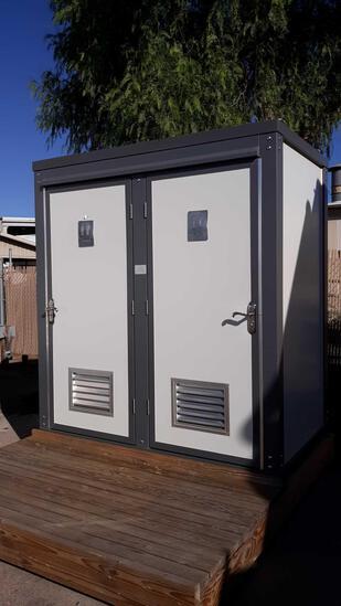 Portable Freestanding (2) Stall Restroom