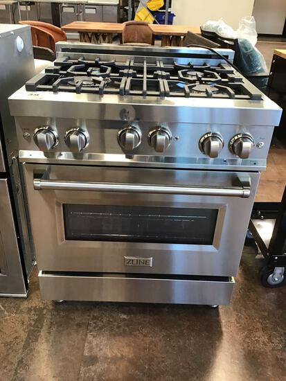 Zline 30in. Wide 4.0 cu. ft. Freestanding Gas Range with Gas Stove and Gas Oven in Stainless Steel