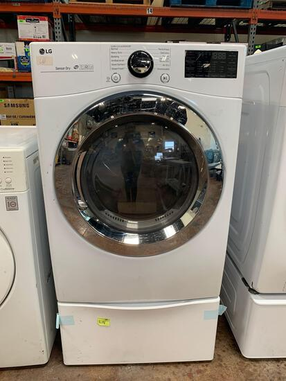 LG Dryer Electric 7.4 cu. ft. Ultra Large Cap. Smart wi-fi Enabled SteamDryer