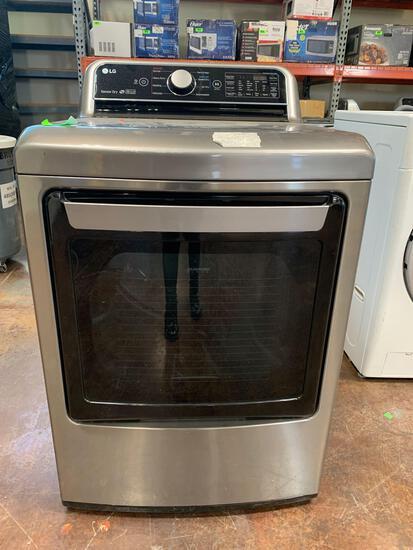 LG Dryer 7.3 cu. ft. Ultra Large Graphite Steel Smart Electric Vented w/ EasyLoad Door