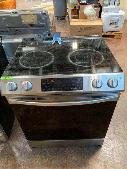 Samsung - 5.8 Cu. Ft. Self-Cleaning Freestanding Electric Range - Stainless Steel