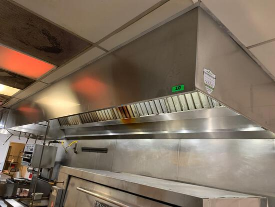 18.5ft. Range Hood with Fire Suppression System