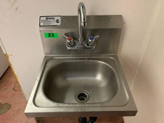 Krowne Stainless Steel Single Basin Washing Station