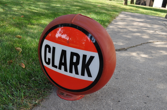 Clark Globe - Reproduction - One side has no glass