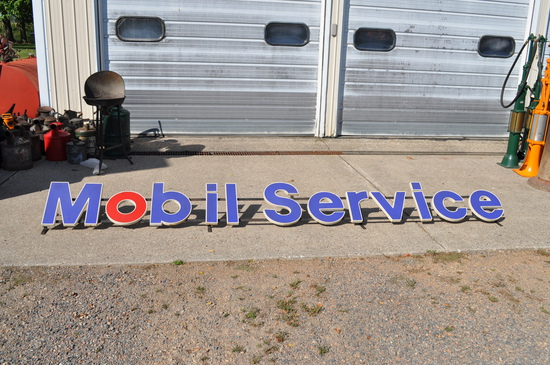 Mobil Service Roof Sign - Plastic