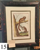 framed print of Tamarin monkey