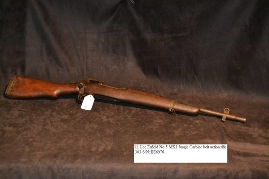 Lee Enfield No.5 MK1 Jungle Carbine bolt action rifle .303 cal. S/N: BE6976