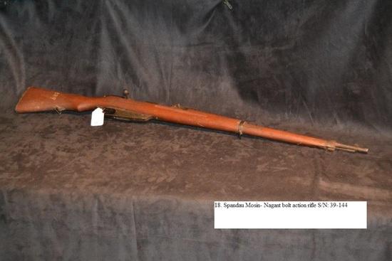 Spandau Mosin- Nagant Model 1891 bolt action rifle S/N: 39-144 Stamped GEW 88