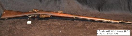 Brescia Model 1883 bolt action rifle 6.5 X 52.3mm cal. S/N: NT5162