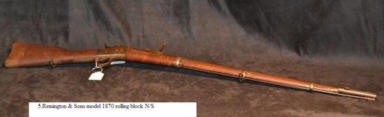 Remington & Sons Model 1870 rolling block N/S